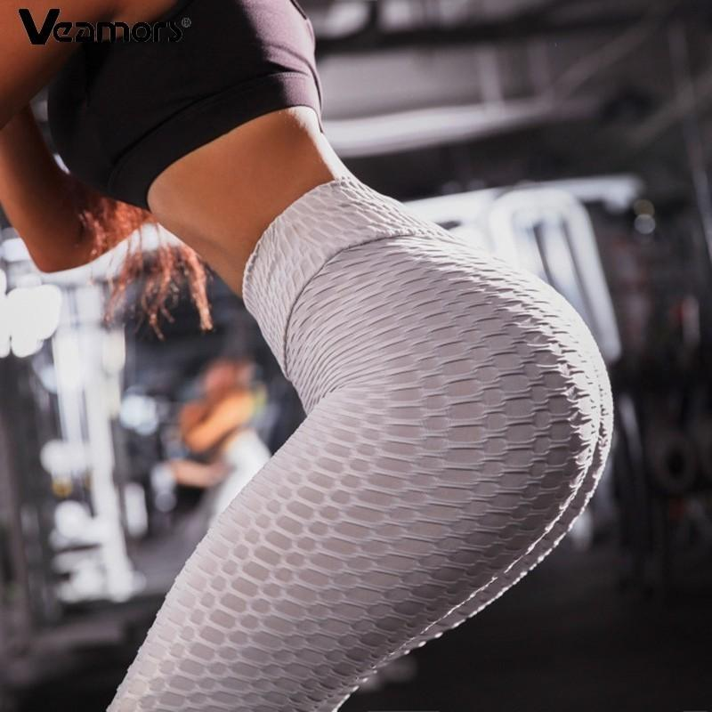3d89765e5c 2019 VEAMORS Sexy Elastic Women Yoga Pants Push Up Gym Running Solid Color  Leggings Ladies Slim Fitness Sports Leggings High Waist From Youtuo, ...