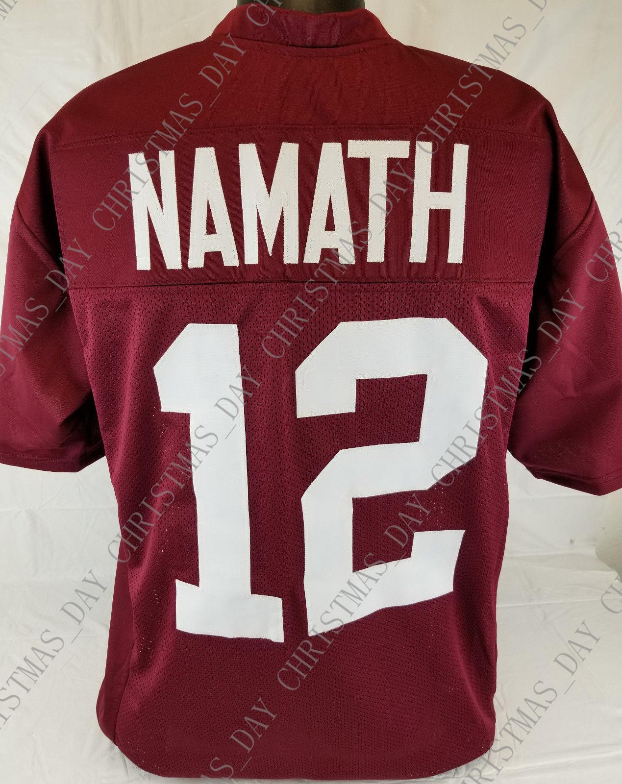 quality design cba41 6c3e2 Cheap custom Joe Namath Crimson College Style Football Jersey Size 3XL  Customized Any name number Stitched Jersey XS-5XL