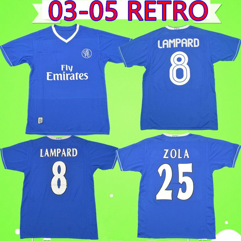 finest selection 38406 cf125 Chelsea FC retro soccer jersey football shirt № 8 Лэмпард Ретро футбол  Джерси 2003 2004 2005 классический винтаж 03 04 05 футболка синяя