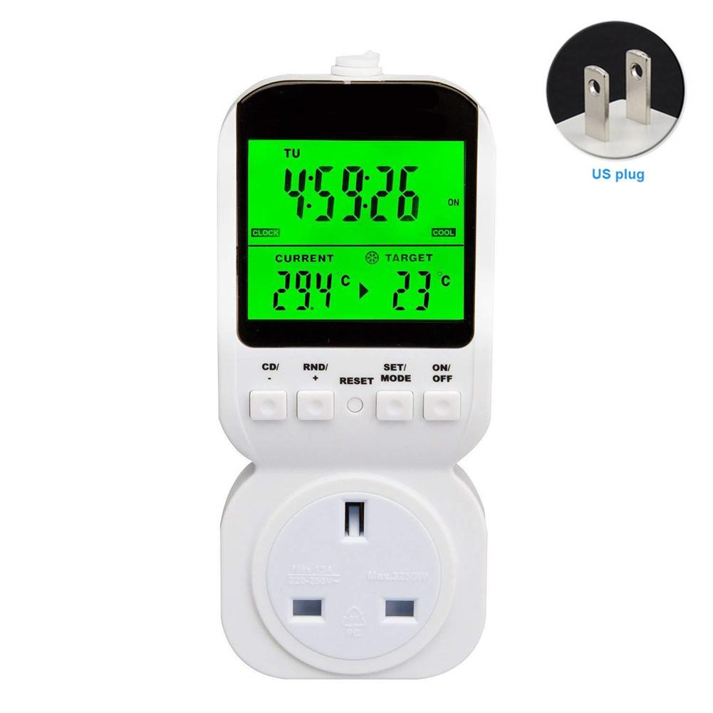 MTS-400 Thermostat Plug Socket Electronic Programmable Digital Weekly ABS Outlet Timer Switch Smart Home Energy Saving Backlight