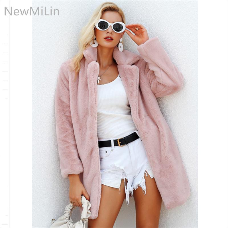 Shaggy De Rosa Elegante Primavera Otoño Cálido Mujeres Color Compre  wTxPSFqAf 5d1707801974