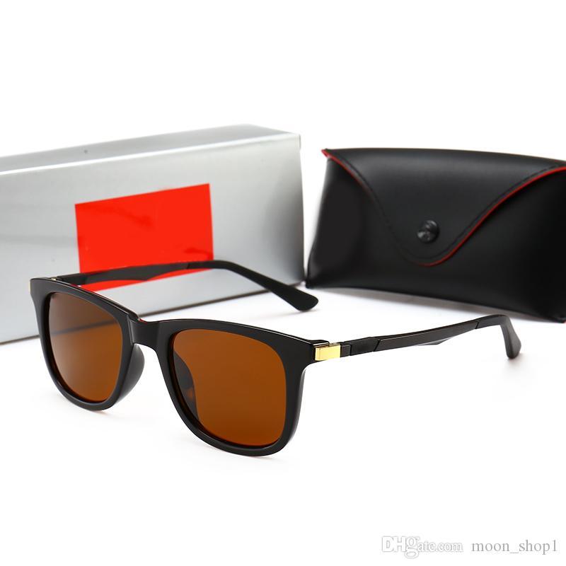 9ee5c577f0 Compre RayBan RB4215 Moda Popular Hombre Diseñador Vintage Gafas De Sol  MASCOT Cuadrado 18 K Oro Metal Combinación Marco De Calidad Superior Anti  UV400 ...