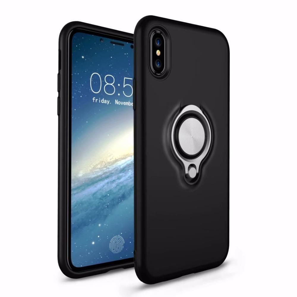 on sale d7b4b dbe79 For Iphone Xr Case Car Holder Stand Magnetic Suction Bracket Finger Ring  Cover For Iphone Xs Max For Iphone X 5 6s 7 8 Plus Case