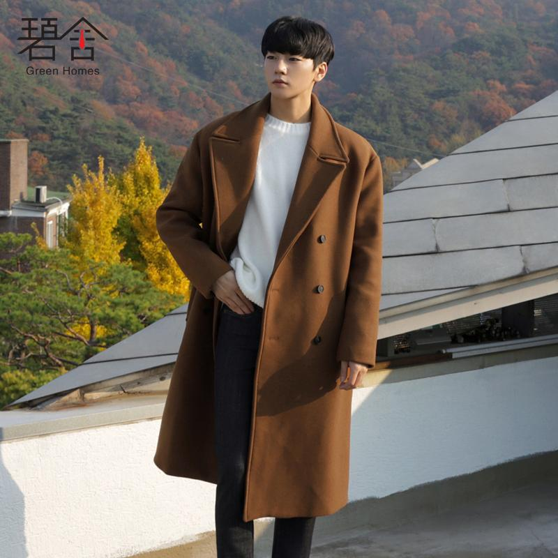 3c1961949a06 2019 2018 Young New Winter Wool Coat Men Medium Length Style Woolen Coats  Men S Coffee Loose Fashion Casual Overcoat From Yanmai