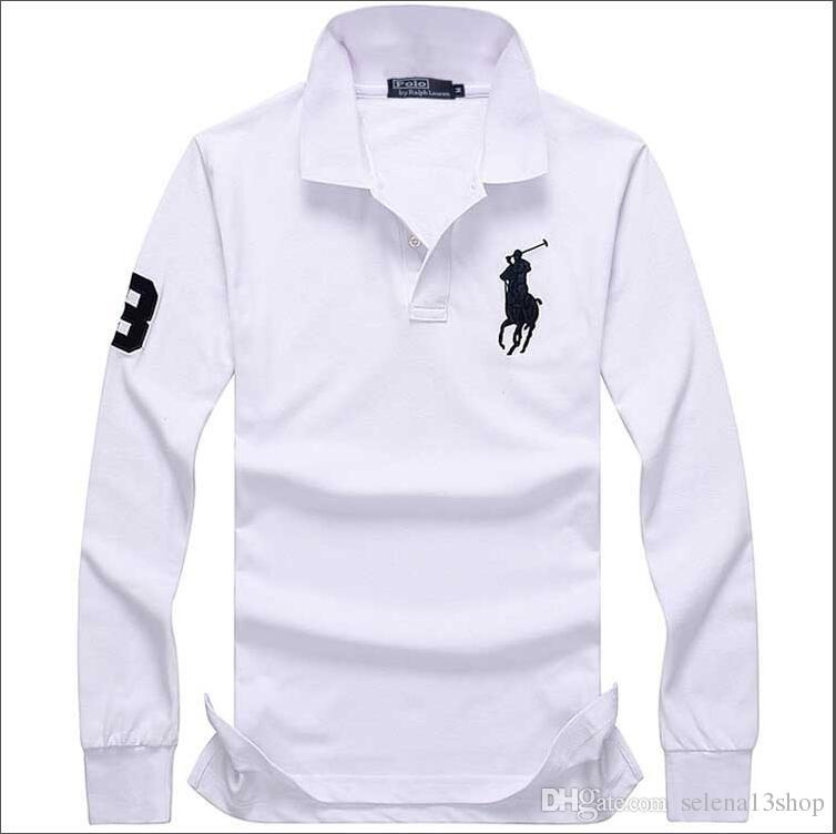 Long Polo Embroidery Small Lapel T Clothing Designer Horse