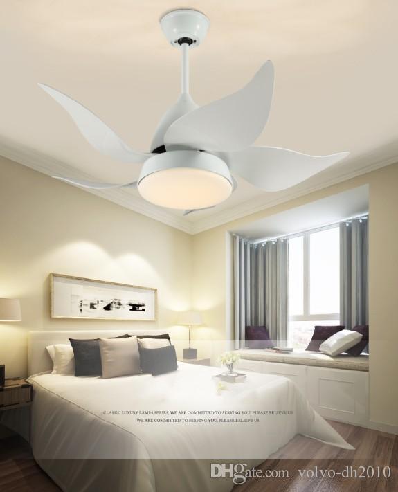 Moderne Deckenventilatoren Zeitgenössische Eisen LED-Leuchten Wohnzimmer  Esszimmer Schlafzimmer Arylic Deckenventilatoren Lampen mit Fernbedienung  ...
