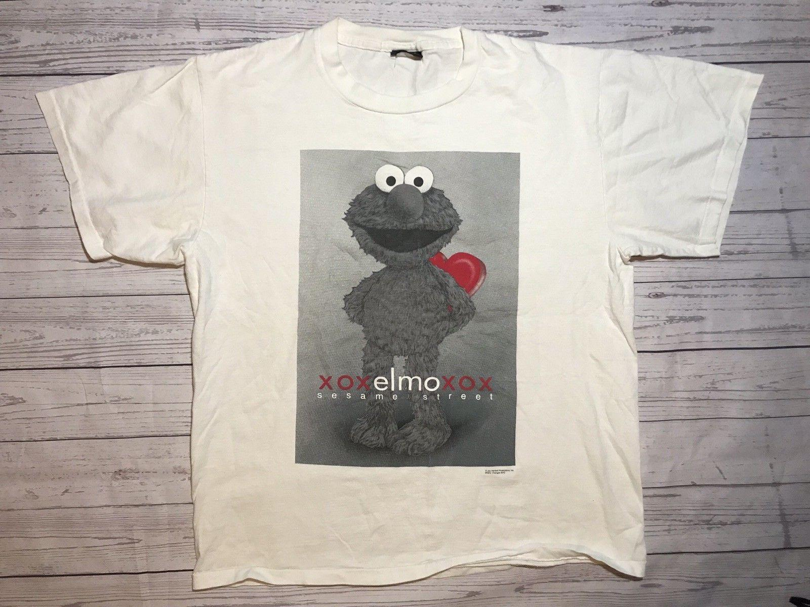 343249cad Vintage Elmo T Shirt Mens Xl Changes Tag Single Stitch Sesame Street 90s  Xoxo Men Women Unisex Fashion Tshirt T Shirt Slogans Dirty T Shirts From ...