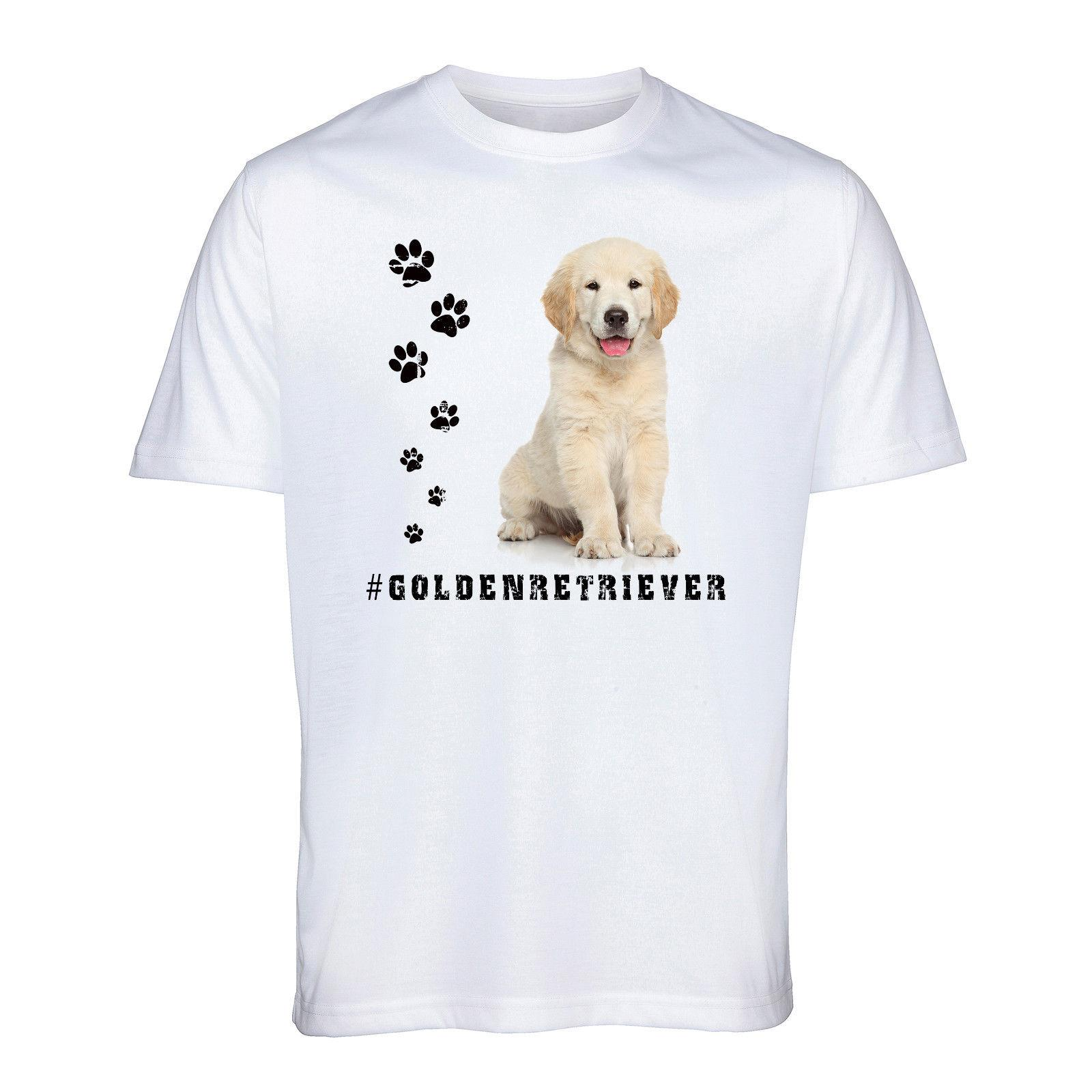 GOLDEN RETRIEVER T Shirt Hashtag Tee Dog Breed Animal Pet Mens Womens Funny Gift Cartoon t shirt men Unisex New Fashion tshirt