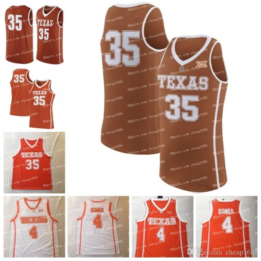 premium selection fbdb9 a326b Custom Texas Longhorns College Basketball #4 Mohamed Bamba Mo 10 Jaxson  Hayes 12 Kerwin Roach Stitched Any Name Number orange white Jersey