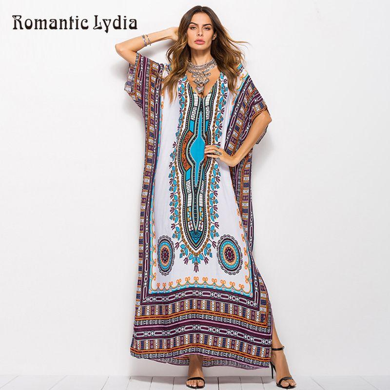 6968f3124a9df 2018 Women Kaftan Retro Floor Length Dresses Large Sizes Ethnic Dashiki  Robe Femme Boho Long Maxi Summer Dress Plus Size Y19012102