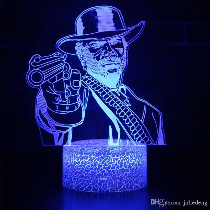 16 Color Changing LED Night Light for Kids Manga APEX Red Dead Redemption Nightlight with Remote Control