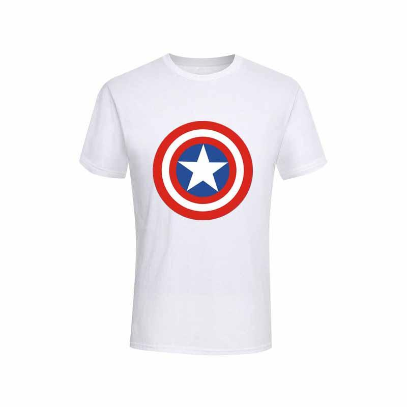 2019 Mode Männer T-Shirts Captain America Distressed Shield Logo Marvel Comics Erwachsenes Hemd XS-2XL Baumwolle T-Shirts