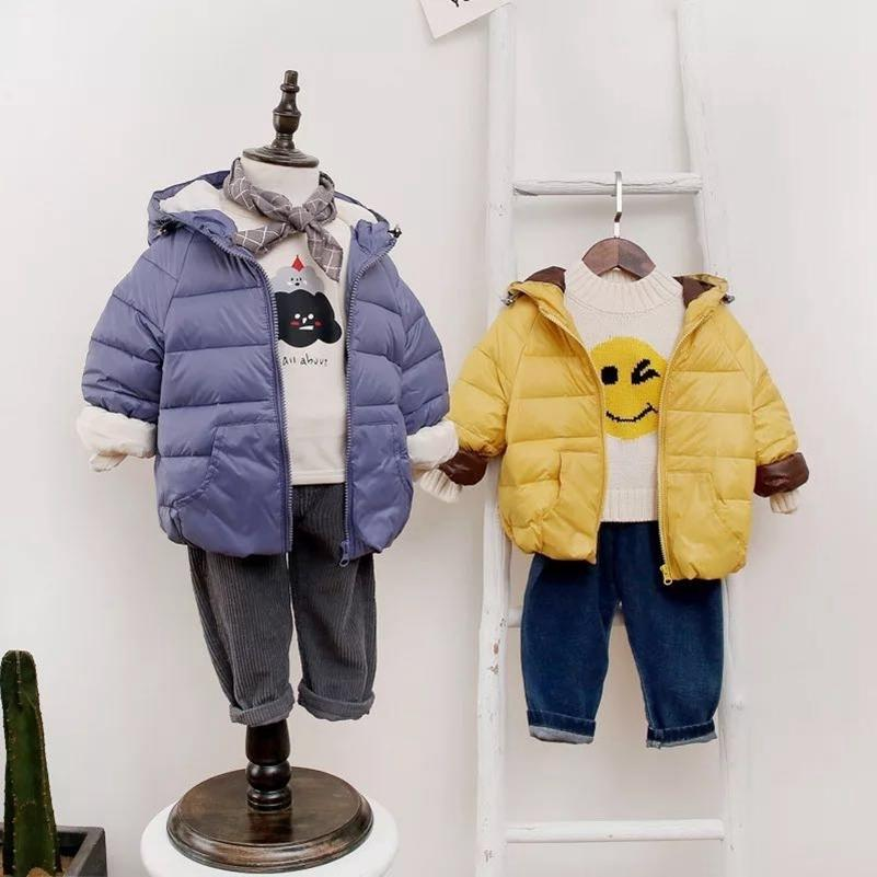 8953ea918b41 Kids Down Coats Baby Boy Winter Clothes For Baby Boy Girl Solid Warm  Overcoat Korean Fashion Hooded Clothes Kid Clothing Coat