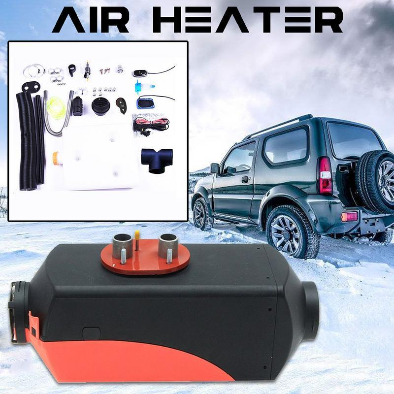 5KW 12V Diesel Air Heater 10L Tank Remote Control LCD For Cars Buses RVs  Trucks Engineering Vehicles