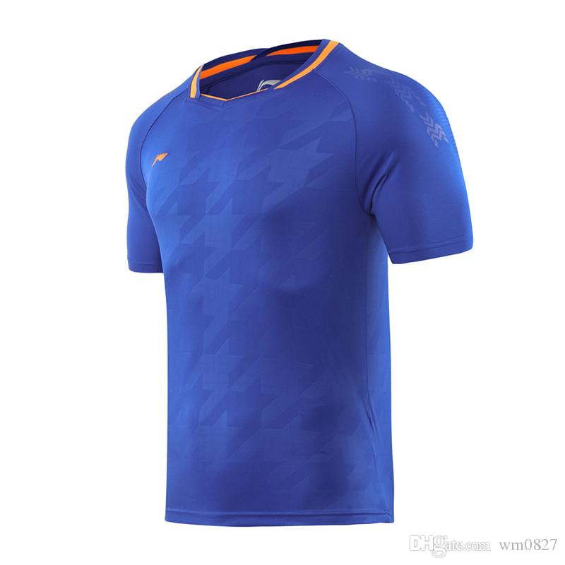 New 2019 Li Ning Badminton T-shirt, Men + Women Tennis shirt, National Team Badminton T-shirt, Quick Dry Sportswear, Table Tennis jerseys