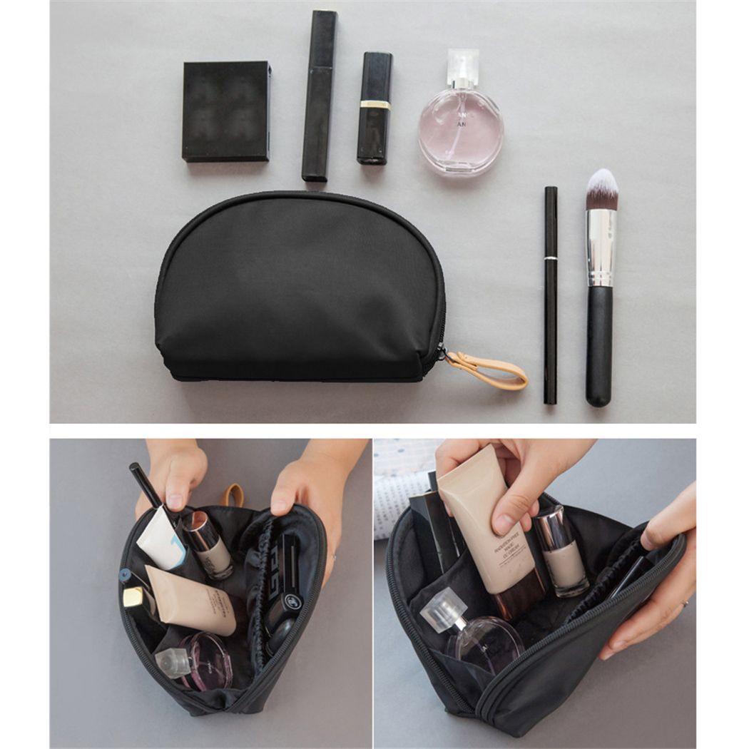 e1dbf339e Compre Coofit Causal Bolsa De Maquillaje Para Mujeres Hombres Portátil De  Viaje Con Cremallera Bolsa De Cosméticos Bolsa De Aseo De Mano Mano  Sosteniendo ...