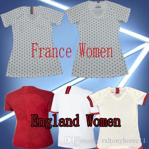 pretty nice 77c61 49c8d 2019 ENGLAND WOMEN SOCCER JERSEYS WORLD CUP HOME WHITE AWAY RED 2020 19 20  France WOMEN JERSEY FOOTBALL SHIRTS