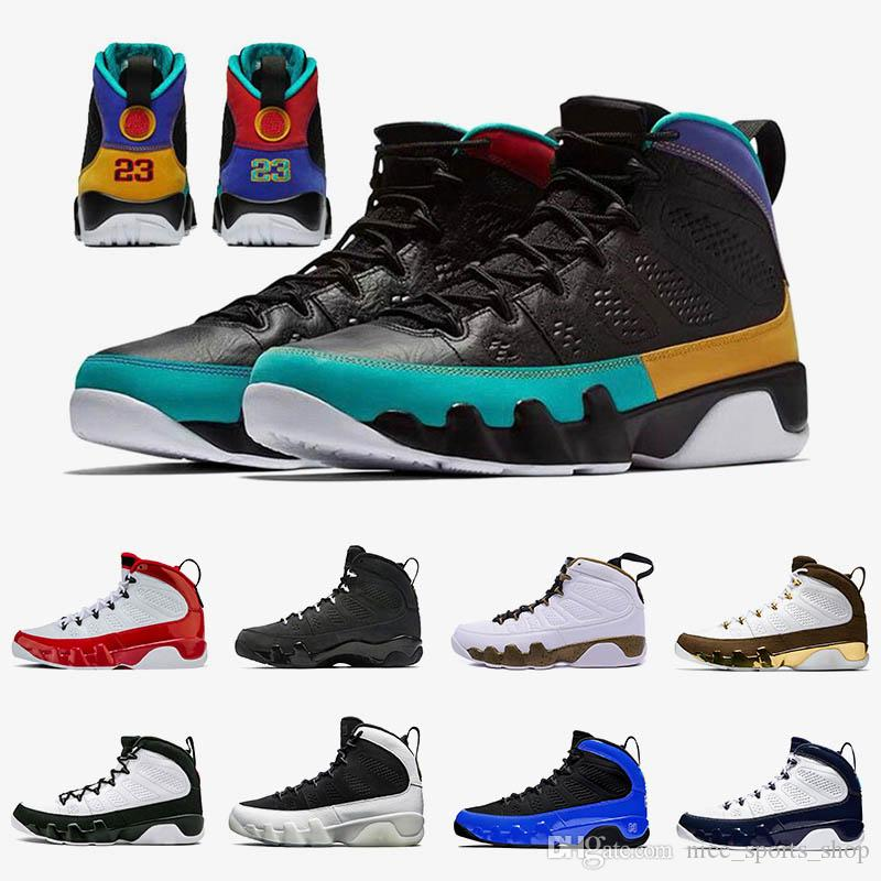 Dream it do it 9 9s Jumpman Mens Basketball Shoes City of Flight Gym Red UNC Racer Blue Trainers OG Space Jam Sneakers