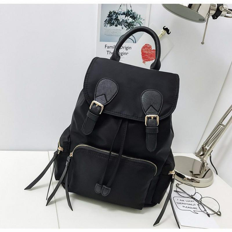 8472f2ce6 Nylon Women Backpack School Bag For Girls 2019 New Fashion Schoolbag Large Back  Pack Softback Canvas Backpack Travel Bag Zipper Backpack Brands Rucksack ...