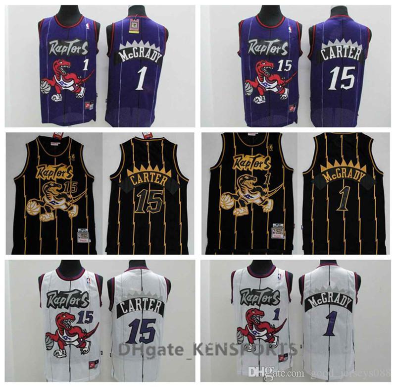 82aa23efd 2019 High Quality Retro Men Toronto Basketball Raptors Jersey Leonard  1Tracy McGrady 15 Vince Carter Jerseys Purple Black White From Sagala01