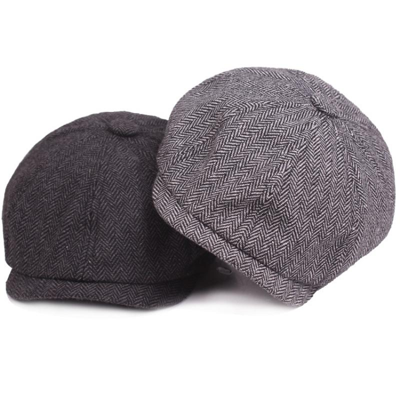 73838a1a0ba HT2019 Vintage Men Women Beret Spring Autumn Winter Newsboy Cap ...