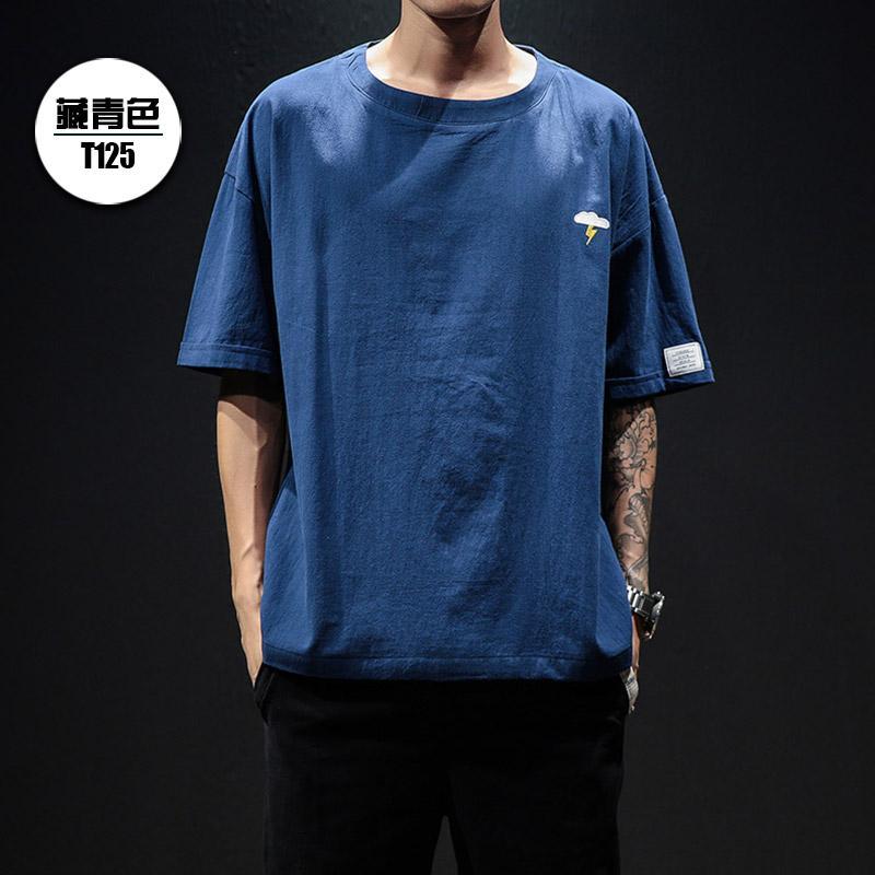 a13ca4c75 xpp1002 SummerT-shirt men's male half sleeve slim printed ice silk short- sleeved personality dark flower tide youth