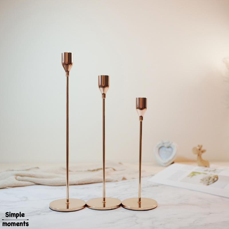 7b430598000 Simple Moments Modern Style Gold Metal Candle Holders Wedding Decoration  Bar Party Home Decor Candlestick Covered Candle Holders Cut Glass Votive  Candle ...