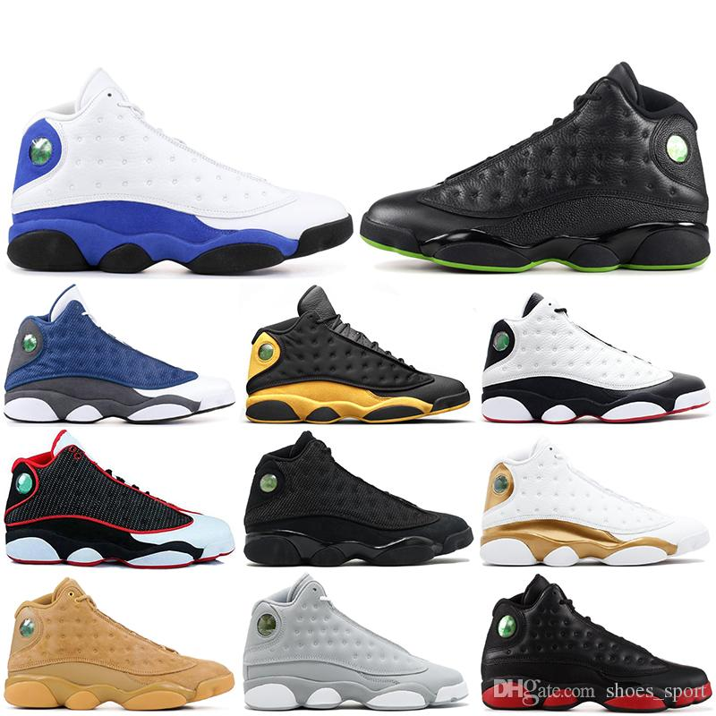 reputable site ad8fe aaf0d Compre Air Jordan 13 Retro AJ13 Nike Shoes Nuevo 13 He Got Game Zapatos De  Baloncesto Para Hombres Phantom Black Cat Chicago Criado Melo Clase De 2003  Hyper ...