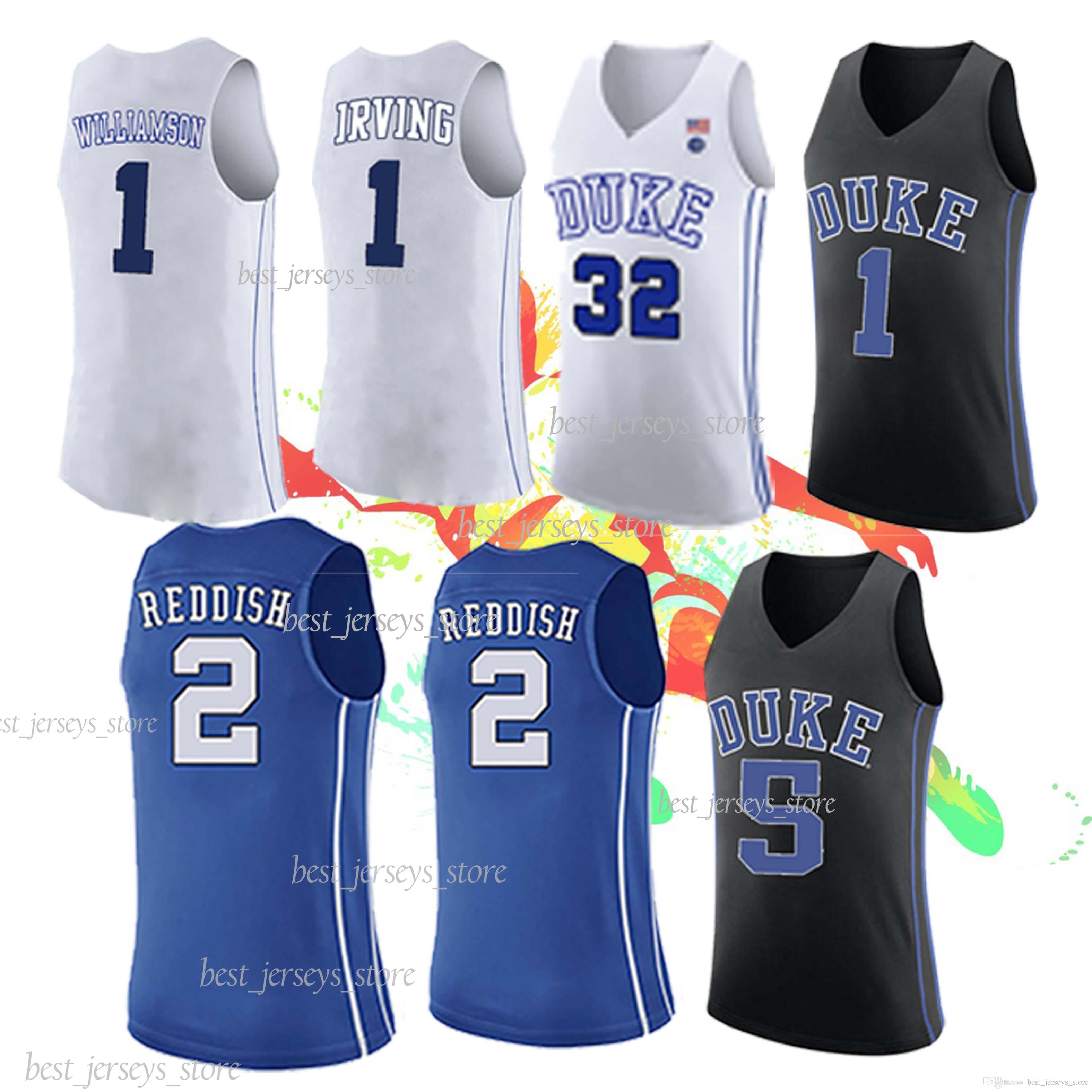 big sale f1096 fd203 4 REDICK NCAA 32 LAETTNER jerseys 2 Cam Reddish Duke 1 Zion Williamson Hot  sale Jersey sportswear