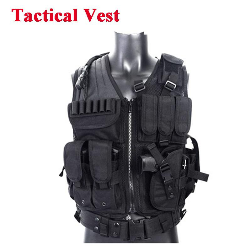 Tactical Vest Equipment Hunting Vest Training Paintball Combat Protective For CS Wargame 4 Colors