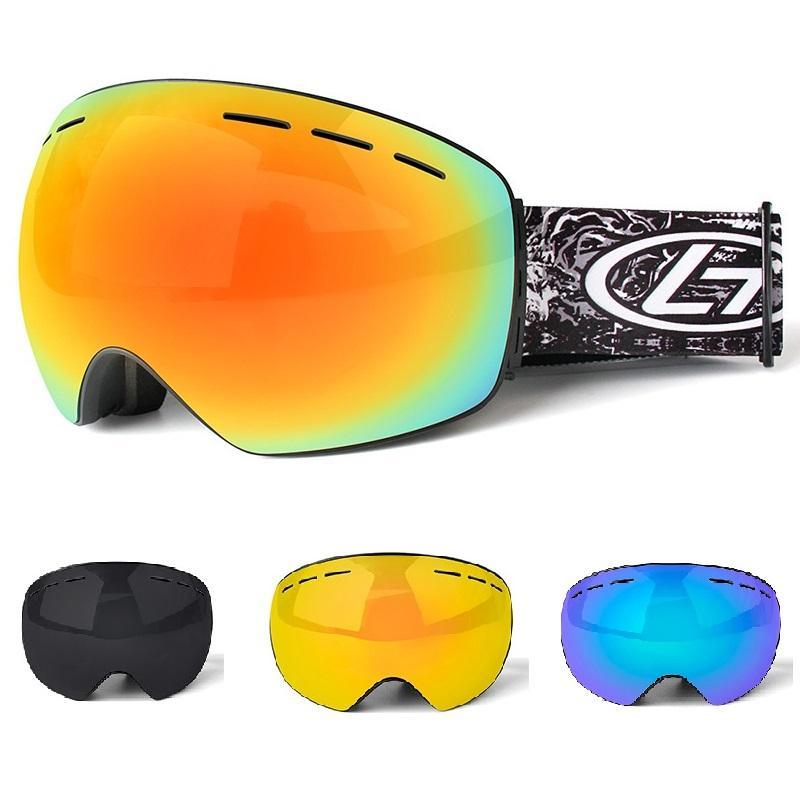 7e1b039bdc1f78 Acheter Pour Les Enfants Adultes Ski Lunettes Snow Sports Snowboard Anti  Buée Coupe Vent Coupe Vent Lunettes UV400 Skate Ski Lunettes De Soleil  Lunettes De ...