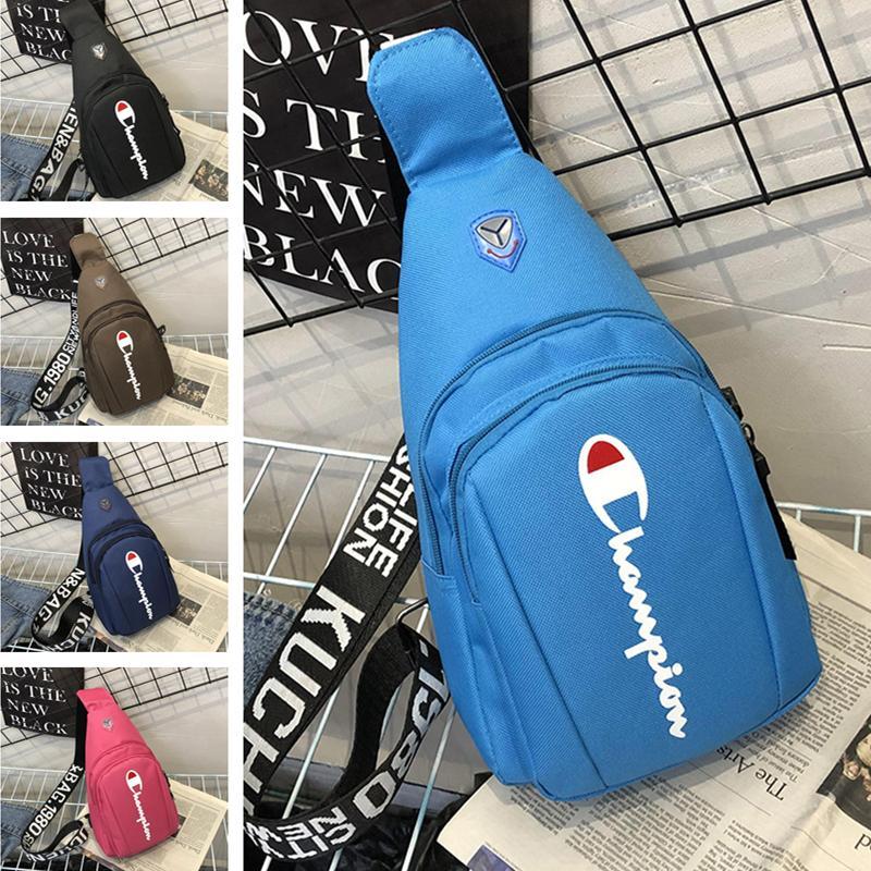 96ed19c6127a Unisex Champions Letter Canvas Chest Bag Crossbody Fanny Pack Backpacks  Adjustable Shoulder Bag Strap Belt Handbags Sports Travel Bag C51002