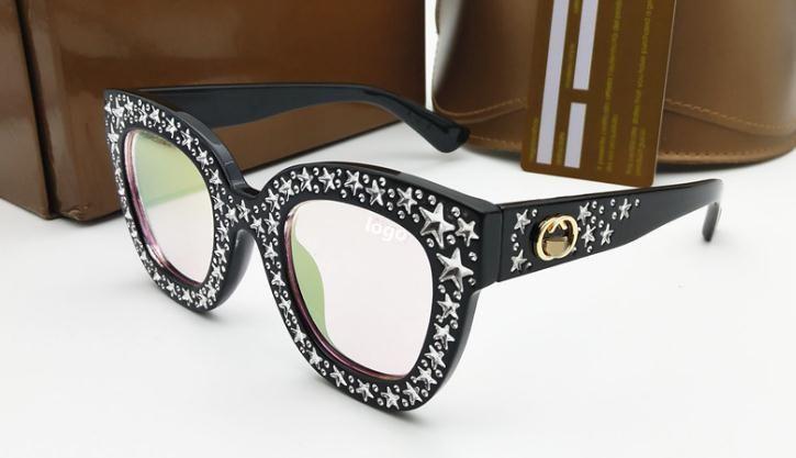 11b19eae61d 2019 Hot Sale Glasses Star Diamond Style Fashion Metal Oversized Sunglasses  100% UV Protection Sunglasses Luxury Eyewear Sunglasses Brands Best  Sunglasses ...