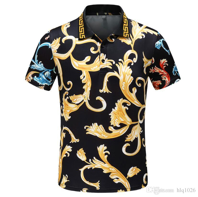 c917d6719 2019 New Fashion Print T Shirts For Men Summer Soft Mens Designer Polo  Shirts Casual Loose T Shirt From Hlq1026