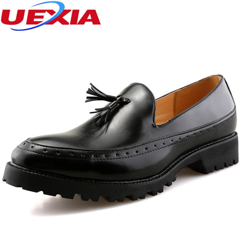 compre 2017 nuevos hombres de cuero oxford zapatos cómodos zapatos
