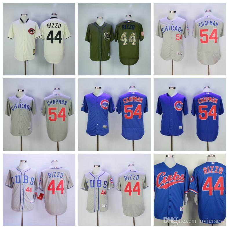 hot sales 5c8aa 5e33c 44 Rizzo Chicago Baseball jerseys Cubs Aroldis 54 Chapman Best selling  Jersey TOP quality Rizzo