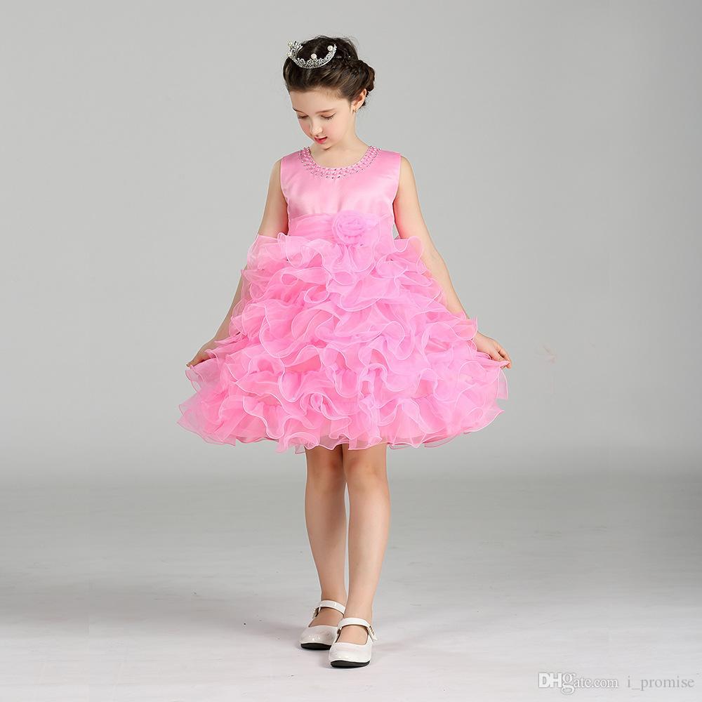 bb097d975325f Satın Al Prenses Çiçek Kız Elbise Yaz Tutu Düğün Doğum Günü Partisi  Elbiseler Kızlar Için Çocuk Kostüm Genç Balo Tasarımları, $42.19 |  DHgate.Com'da