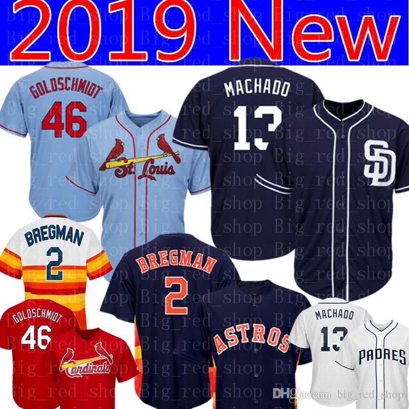 Compre 46 Paul Goldschmidt 13 Manny Machado Jersey Hombre San Diego Padres  St. Louis Cardinals Camisetas De Béisbol Bordado 2 Alex Bregman A  26.6 Del  ... 4c0c53324abd8
