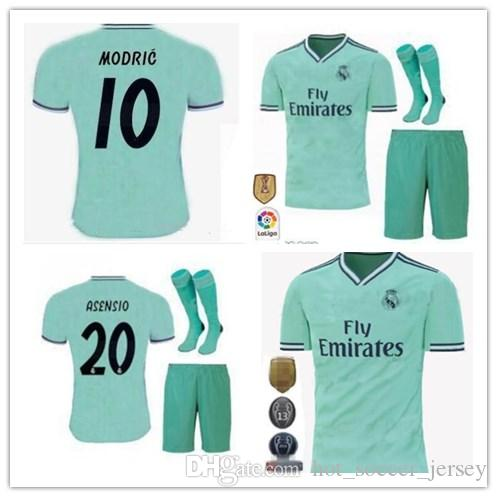 5097f0db3 2019 2019 20 Real Madrid Third Soccer Jersey Green NEW Soccer Shirt  20  ASENSIO ISCO MARCELO Madrid 19 20 Football Uniforms Size S 2XL From ...