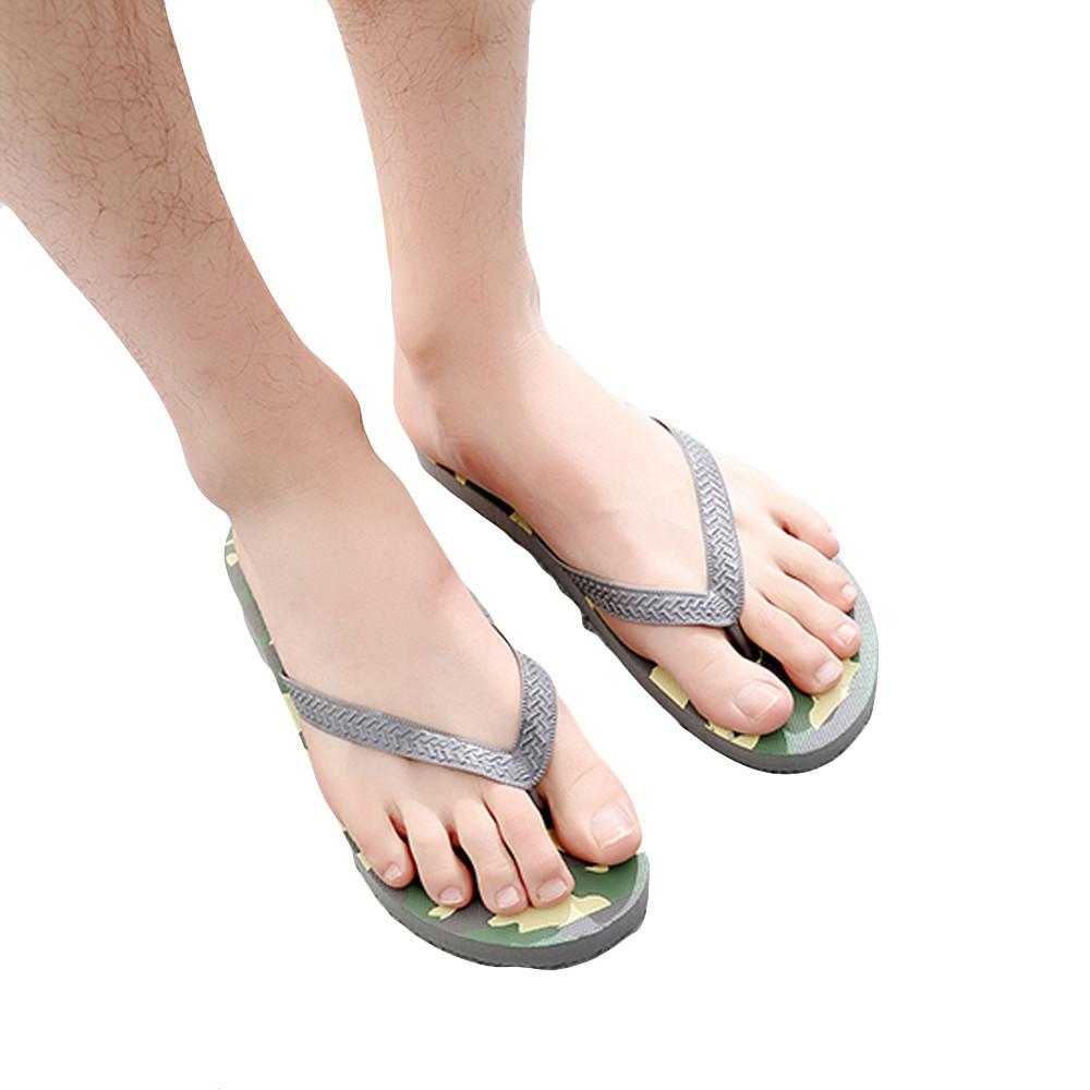 68d7b32023e Summer Men Camouflage Anti-Skidding Sandals Slipper Beach Shoes Camouflage  Solid Round Toe Flip Flops Outside Basic Men s Sandals Cheap Men s Sandals  Summer ...