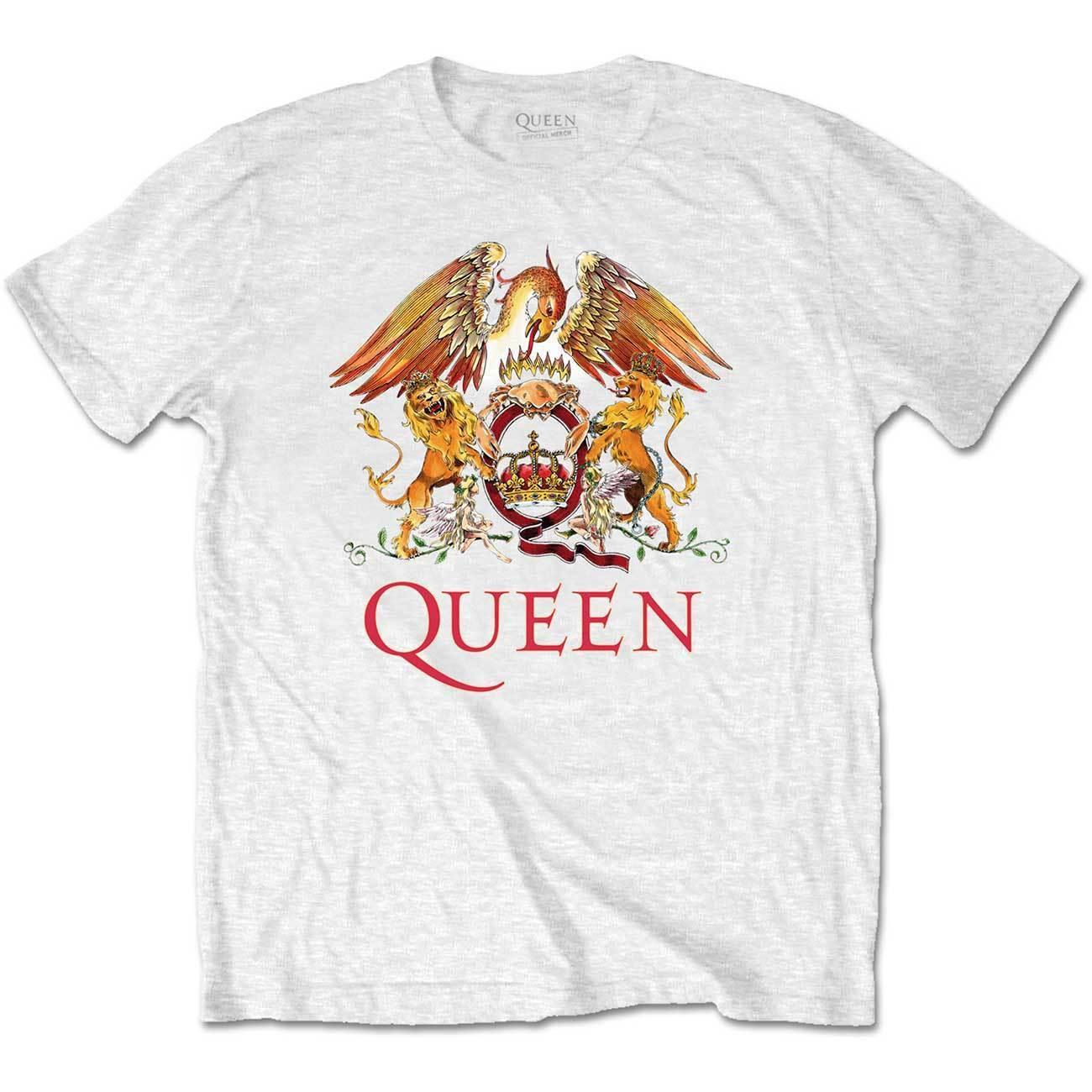 a86084edb9 Queen White Crest Freddie Mercury Brian May Official Tee T Shirt Mens  Unisex Men Women Unisex Fashion Tshirt Funny Purchase T Shirt Crazy Tee  Shirts Online ...
