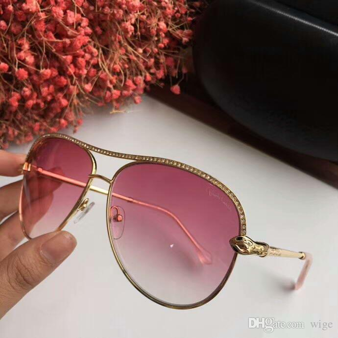 fb4d35a7158 1011 Stone Pilot Sunglasses Shiny Light Bronze   Gradient Designer Sun  Glasses UV400 Lens Top Quality New With Box Wholesale Sunglasses Cool  Sunglasses From ...