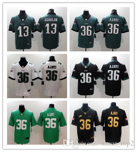 d2975fd9 2018 Mens 36 Brian Westbrook Philadelphia Eagles Football Jersey 100%  Stitched Embroidery 13 Nelson Agholor Color Rush Stitching Jersey