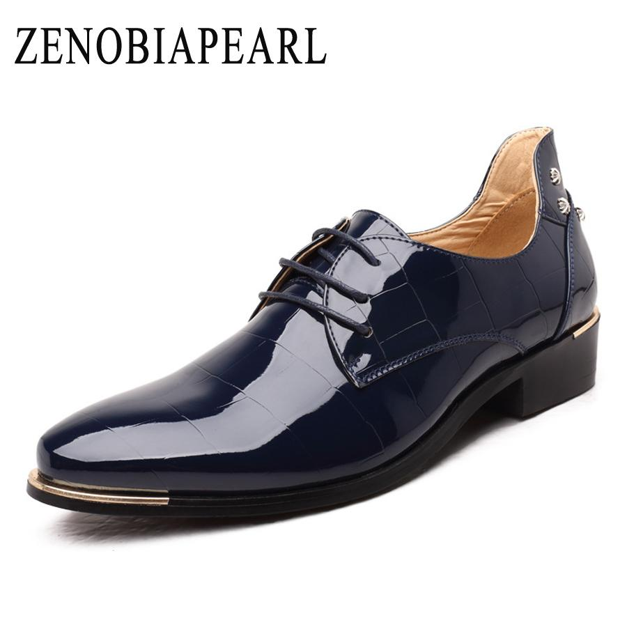 5d1de80316d ZENOBIAPEARL 2018 New Men Leather Shoes Man Flat Classic Men Dress Shoes  Leather Italian Formal Oxford Plus Size 38-48 Online with  60.77 Pair on  Baby911 s ...