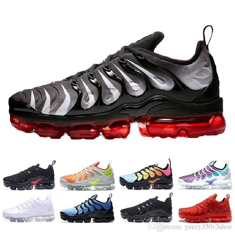 Acheter Nike Air Max Airmax Vapormax Nouveau 2019 VM Chaussures De Course  Hommes TN Triple Noir 60429683aa88