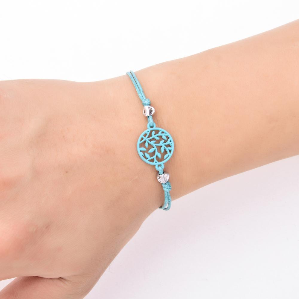 Boho Hollow Tree of Life Charms BraceletsBangles para mujer trenzada chica cadena ajustable pulsera para el tobillo joyería / sets