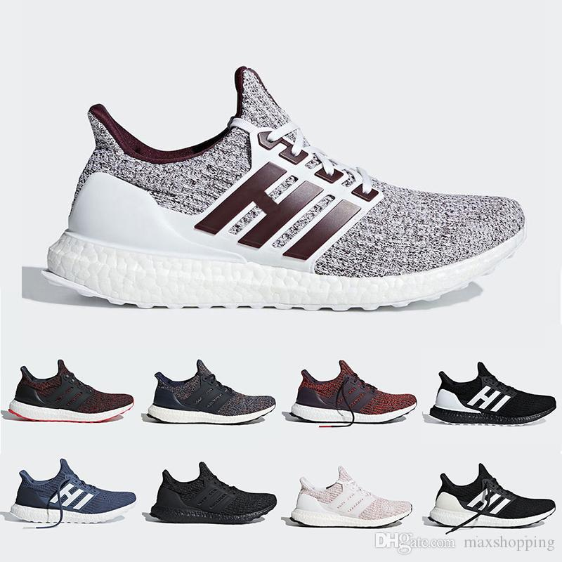 1eaba89692482 2019 Orca Noble Red Ultra Boost 4.0 Running Shoes Candy Cane Triple Black  White Burgundy Primeknit Ultraboost Sports Trainer Men Women Sneakers From  ...
