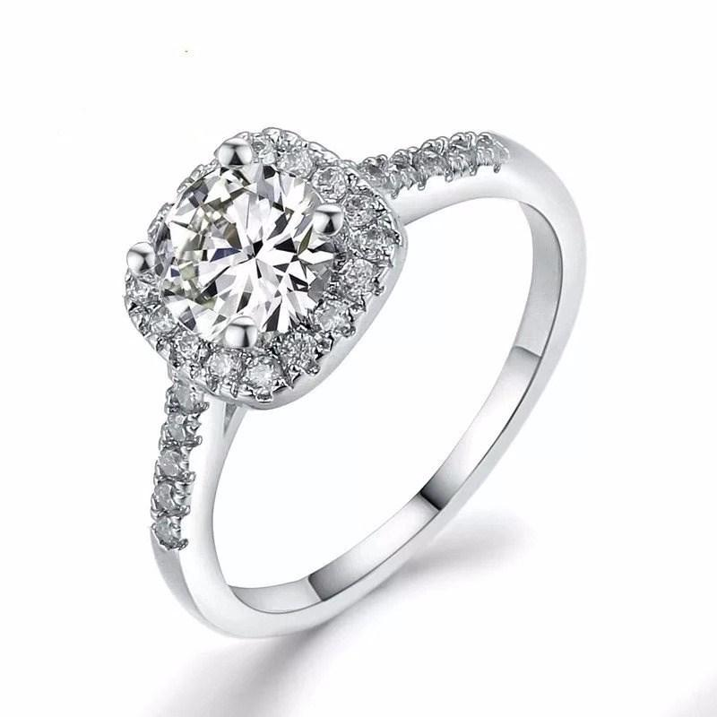e930fae9084 Rose Gold Round Diamond Ring Elegant Temperament Jewelry Womens Girls White  Silver Filled Wedding Ring Classic Vintage Ring For Women Mens Wedding Band  ...