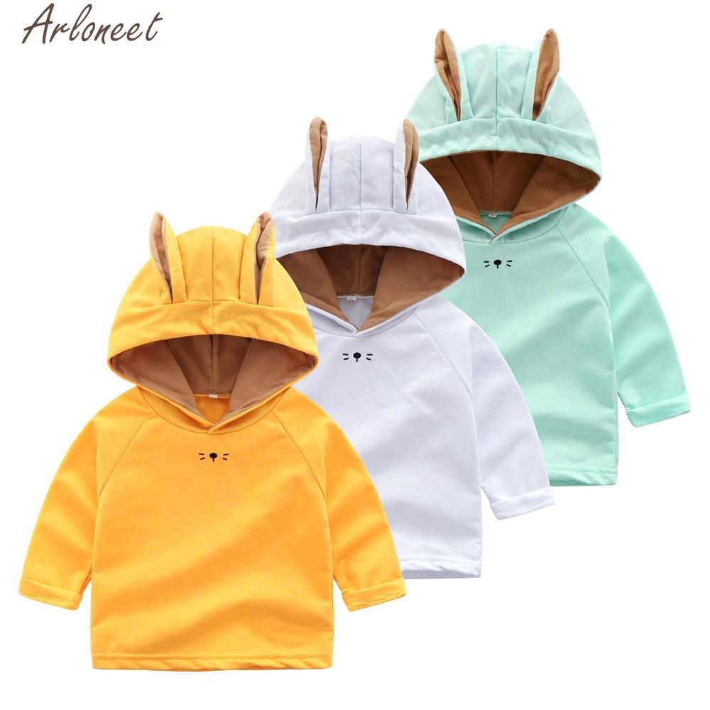 ARLONEET Infant Toddler Boys Girls Outfits Cartoon Rabbit Ears boys sweatshirts baby boy hoodies and sweatshirts baby hoodie