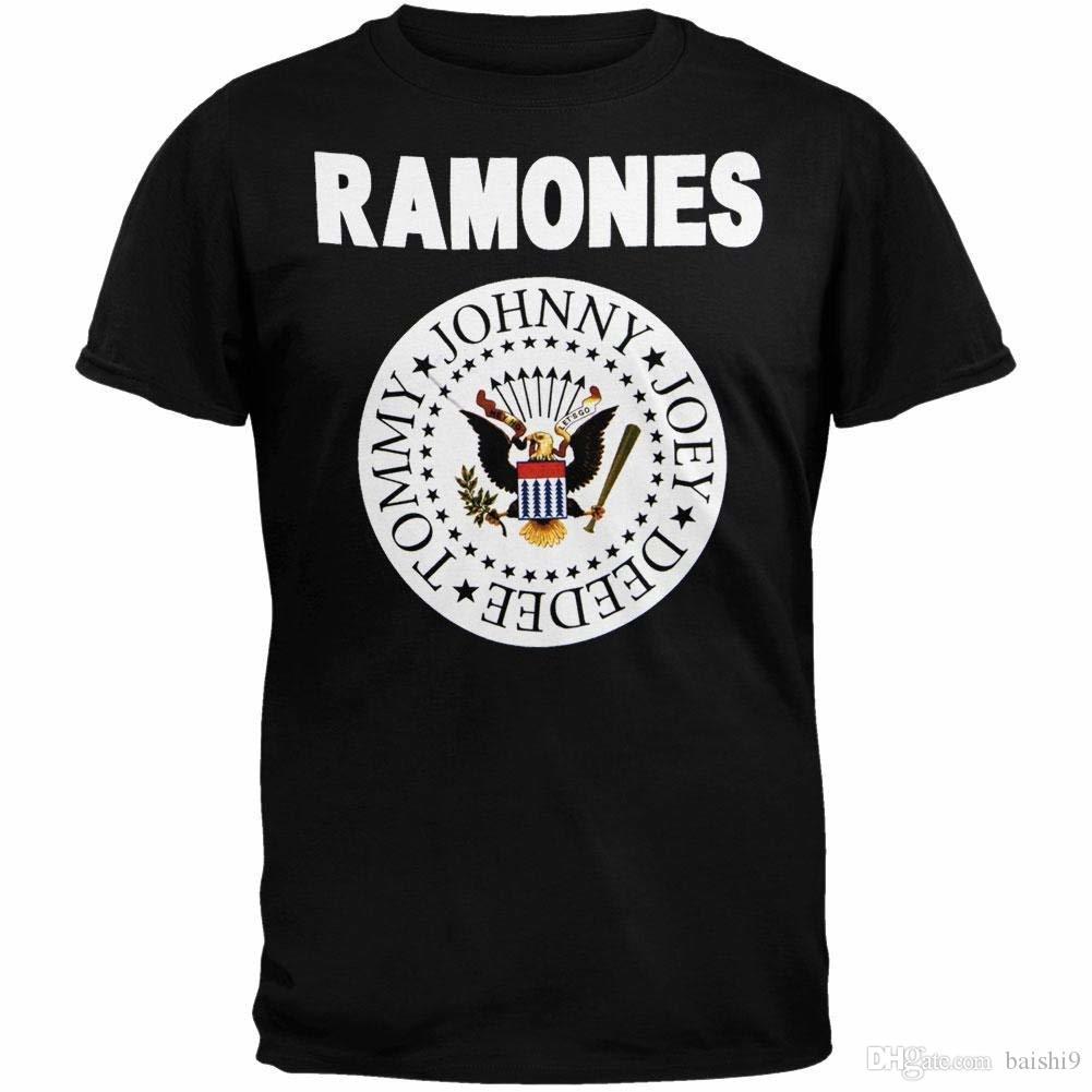 Ramones Mens Full Color Seal T Shirt Large Black Short Sleeves